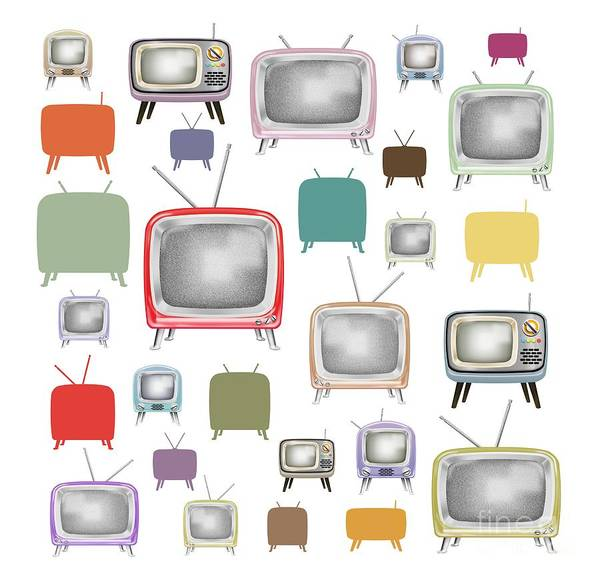 Television Program Painting - Retro T.v. by Setsiri Silapasuwanchai