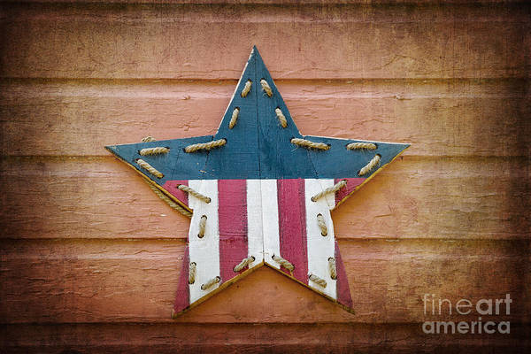Wall Art - Photograph - Retro Usa Star by Jane Rix