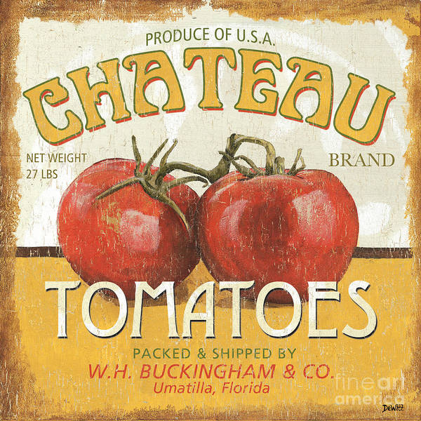 Natural Wall Art - Painting - Retro Veggie Labels 4 by Debbie DeWitt