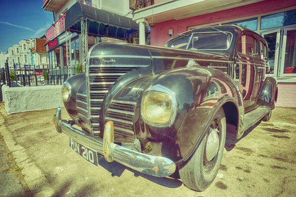 Photograph - Retro Vintage Chrysler In Color by John Williams