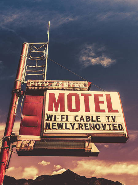 Route Photograph - Retro Vintage Motel Sign by Mr Doomits