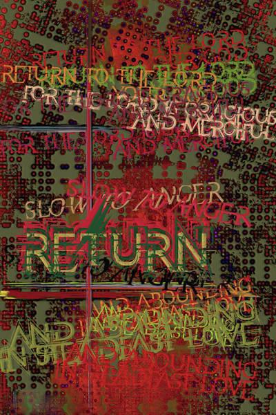 Digital Art - Return by Chuck Mountain