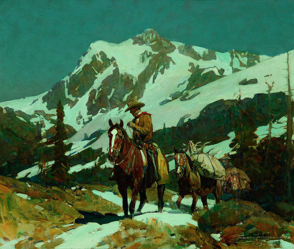 Wall Art - Painting - Return From The Hunt by Frank Tenney Johnson