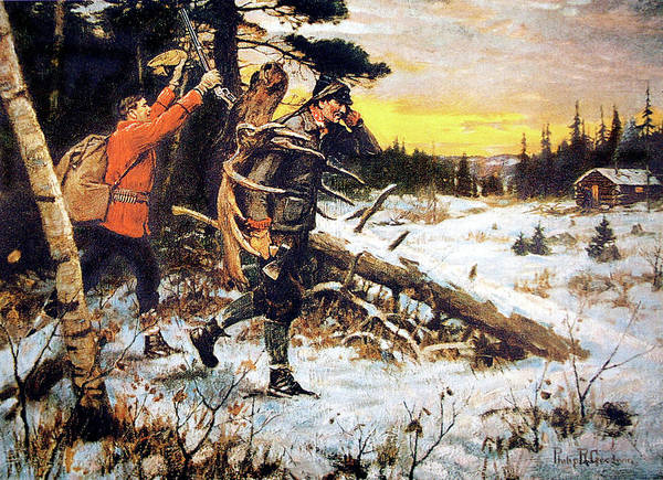 Shooting Painting - Return From The Hunt by Philip R Goodwin