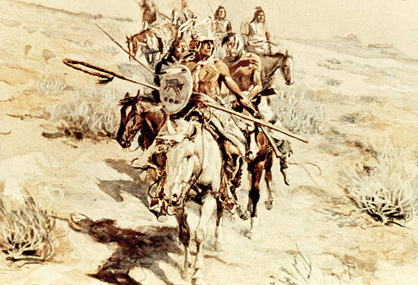 Indian Camp Painting - Return Of The Warriors by Charles Marion Russell
