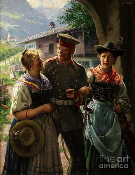 Painting - Return Of The Young Soldiers In The Bavarian Oberland by Celestial Images