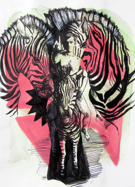 Painting - Return Of Zebra Boy by Rene Capone