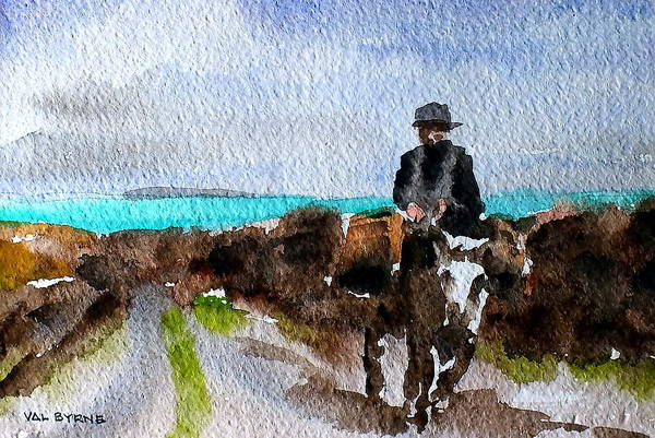 Painting - F 764  Returning Home, Doon Beg, Clare by Val Byrne