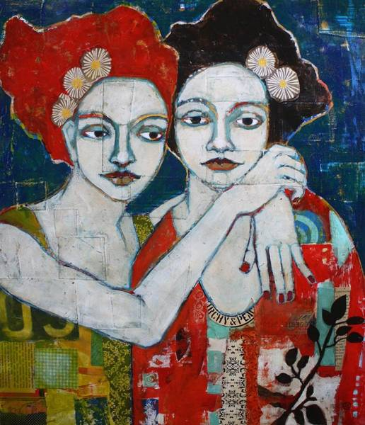 Acrylic Paints Painting - Reunited by Jane Spakowsky