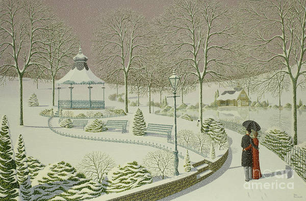 Winter Walk Painting - Reunited by Peter Szumowski