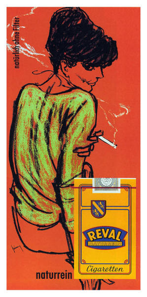 Wall Art - Mixed Media - Reval Cigaretten Naturrein - Vintage Tobacco Advertising Poster By Gerd Grimm - Imperial Tobacco by Studio Grafiikka
