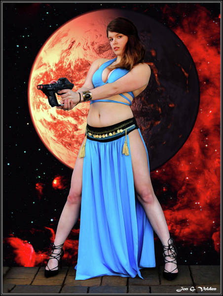 Photograph - Revenge Of The Space Princess by Jon Volden