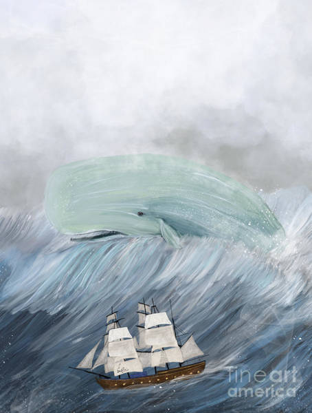 Tall Ships Wall Art - Painting - Revenge Of The Whale by Bri Buckley