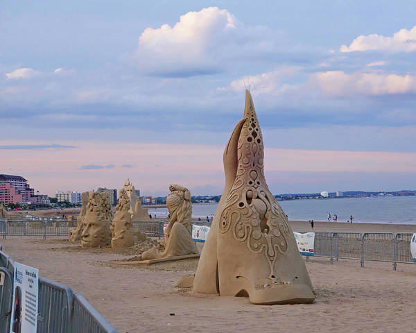 Photograph - Revere Beach Sand Sculptures 2017 by Toby McGuire