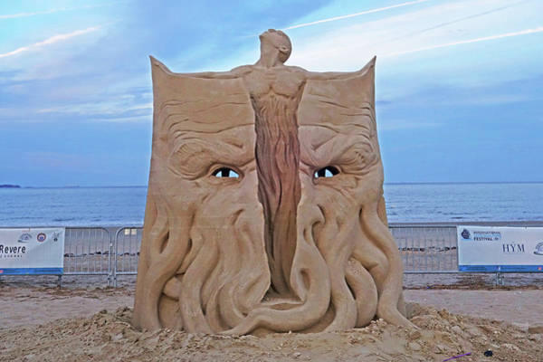 Photograph - Revere Beach Sand Sculptures Revere Ma 2017 by Toby McGuire