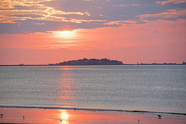 Photograph - Revere Beach Sunrise Revere Ma Looking Towards Nahant by Toby McGuire