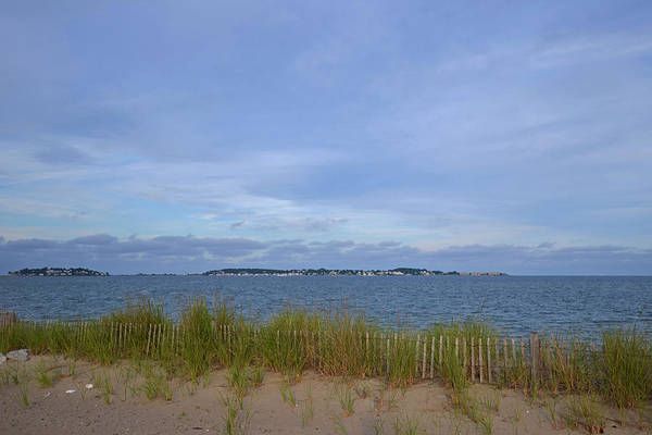 Photograph - Revere Beach Wooden Fence Bird Sanctuary by Toby McGuire