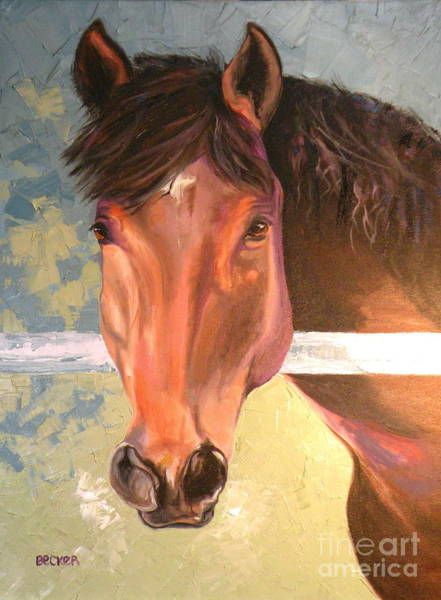 Painting - Reverie - Quarter Horse by Susan A Becker