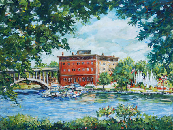 Painting - Rever's Marina by Ingrid Dohm