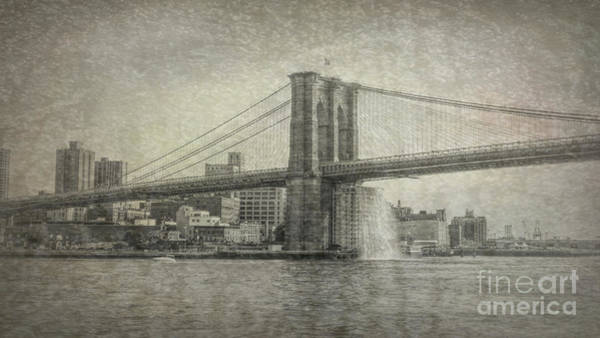 Photograph - Revisiting Brooklyn Bridge by Luther Fine Art