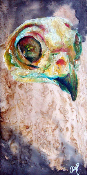 Burrowing Owl Painting - Revolution Burrowing Owl by Christy Freeman Stark