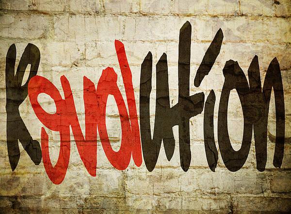 Urban Expressions Wall Art - Digital Art - Revolution Love by Ricky Barnard
