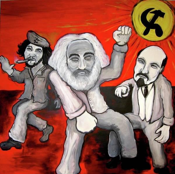 Lenin Painting - Revolution Rock by Danny Hennesy