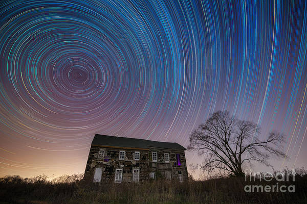 Star Trails Photograph - Revolutionary War House Star Trails by Michael Ver Sprill