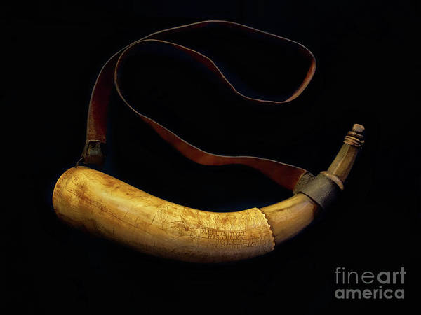 Photograph - Revolutionary War Powder Horn by Mark Miller