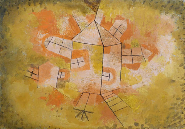 Painting - Revolving House by Paul Klee