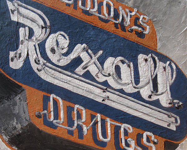 Neon Sign Painting - Rexall by Steve Beaumont