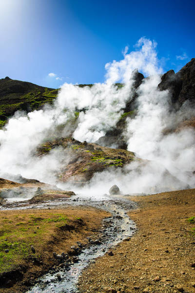 Photograph - Reykjadalur Geothermal Area In Iceland by Matthias Hauser