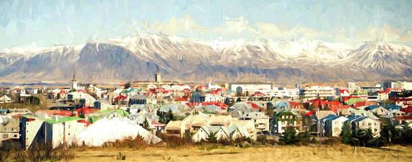 Icelandic Digital Art - Reykjavik City by Roy Pedersen