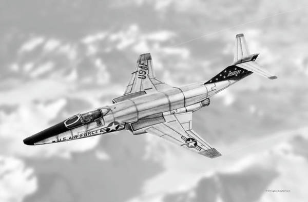 Drawing - Rf-101c Voodoo by Douglas Castleman