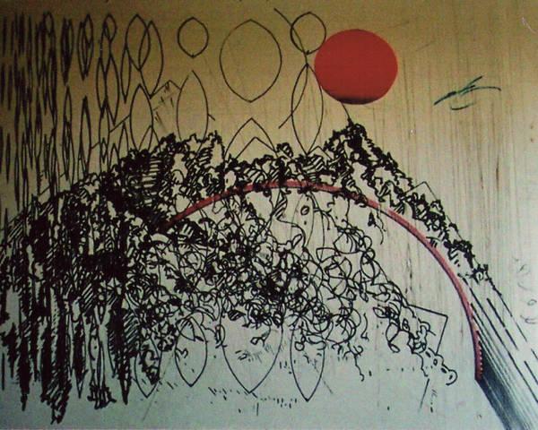 Drawing - Rfb0208 by Robert F Battles