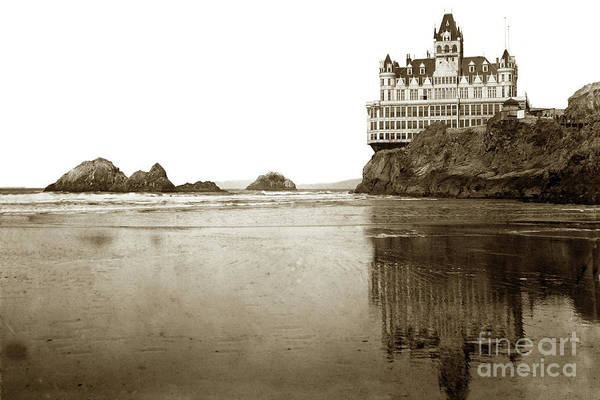 Photograph - Rflection Of The Cliff House And Seal Rocks Fom Ocean Beach, San by California Views Archives Mr Pat Hathaway Archives