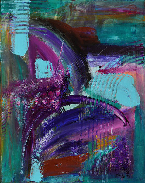 Wall Art - Painting - Rhapsody In Raspberry by Donna Blackhall
