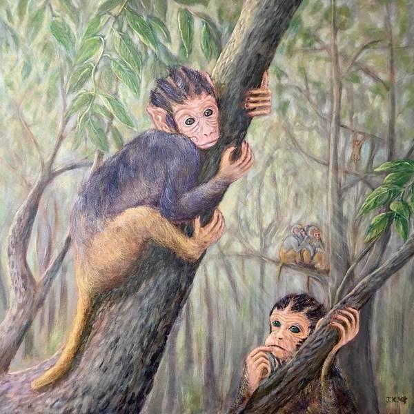 Wall Art - Painting - Rhesus Monkey by Jennifer Kwon