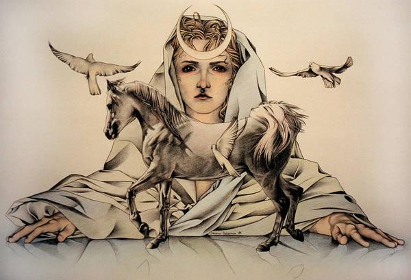 Drawing - Rhiannon by Johanna Pieterman