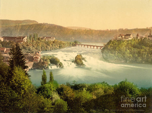 Painting - Rhine Falls by Celestial Images