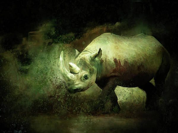 Painting - Rhino by Christina VanGinkel