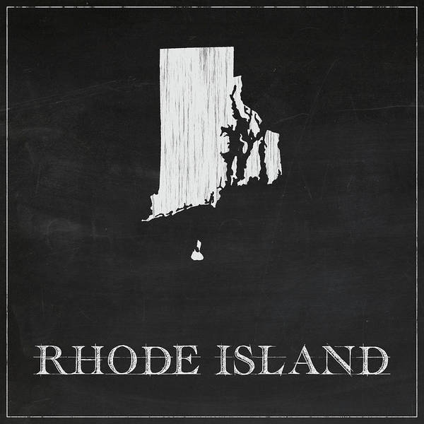 Rhode Island Digital Art - Rhode Island - Chalk by Finlay McNevin