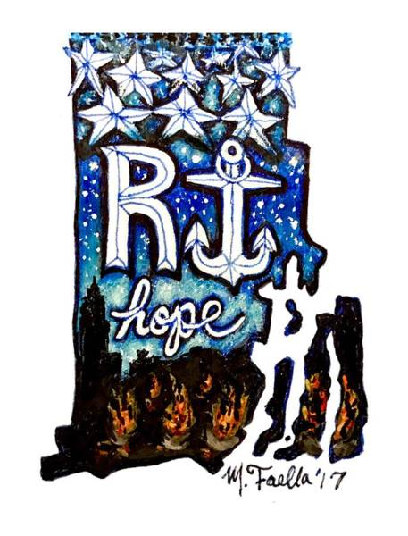 Painting - Rhode Island, Hope by Monique Faella