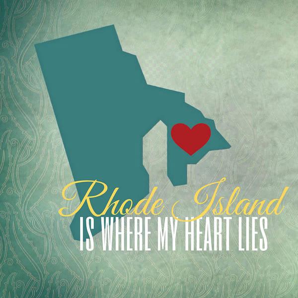 Rhode Island Digital Art - Rhode Island Is Where My Heart Lies by Brandi Fitzgerald