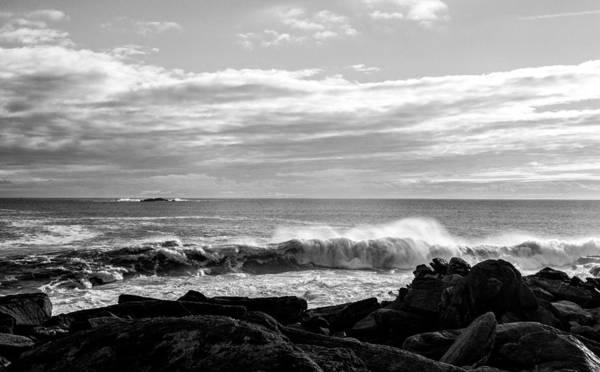 Photograph - Rhode Island Rocks And Waves by Nancy De Flon
