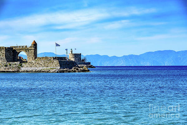 Photograph - Rhodes Town Meets The Water - Rhodes, Greece by Global Light Photography - Nicole Leffer