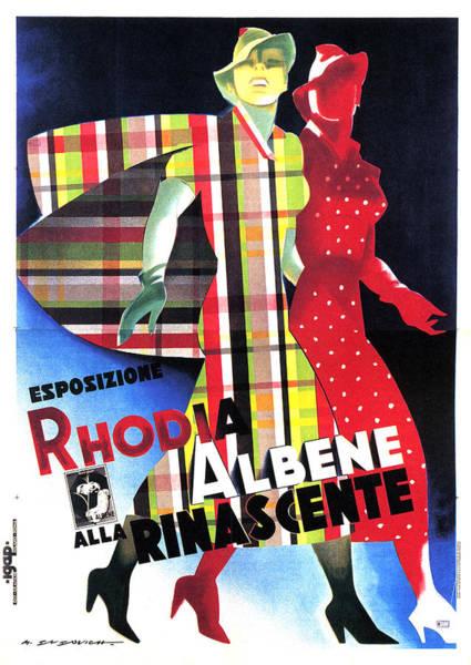Clothing Mixed Media - Rhodia Albene Alla Rinascente - Vintage Exposition Posture by Studio Grafiikka
