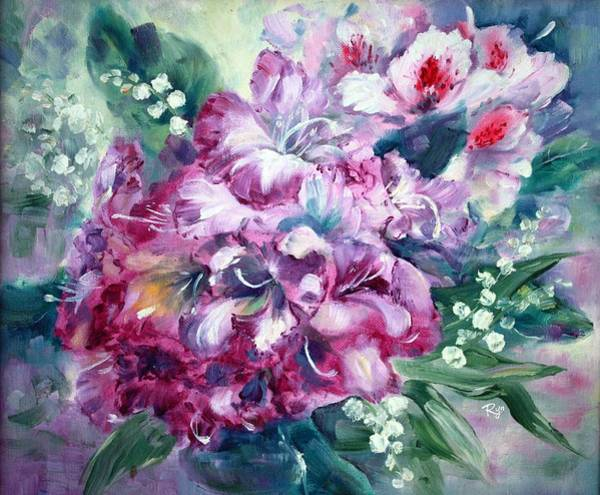 Painting - Rhododendron And Lily Of The Valley by Ryn Shell