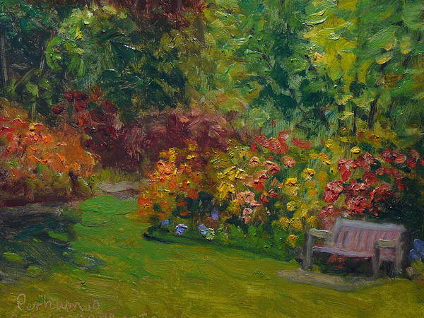Nz.impressionist Painting - Rhododendron Dell  by Terry Perham