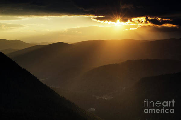 Photograph - Rhodope Mountains Sunset by Steve Somerville